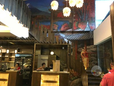 26马来西亚日式餐厅墙绘
